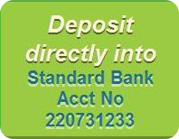 Donate via EFT into Standard Bank