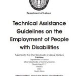Technical Assistance Guidelines on the Employment of People with Disabilities